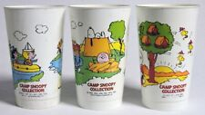 ESZ9741 VINTAGE: Set of 3: CAMP SNOOPY COLLECTION McDonald's Cup Premiums (1965)