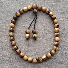 33 Beads Misbah Muslim Prayer Beads Gaharu Buaya Agarwood Islamic 9 MM Aloeswood