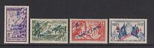 French Indian Settlements - SG 189/90,192/3 - l/m - 1942/3 Paris Exb.overprinted