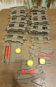Lego Duplo Train 38 Piece Track Lot Parts #6377 6378 3 switches Works w/ Thomas