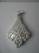 "Raz Imports Christmas Tree Ornament Silver Sparkle Tree 6"""