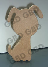 Dog shape in MDF (200 x 12mm thick)/Wooden blank craft shape