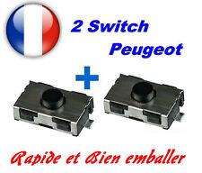 2 Switch bouton de clé télécommande pour Peugeot 206 307 406 Citroen xsara C3 C5