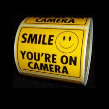 WHOLESALE LOT OF 200 SECURITY VIDEO SURVEILLANCE CCTV SPY CAMERA WARNING STICKER