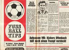 BL 83/84 VfB Stuttgart - Kickers Offenbach (TIP)