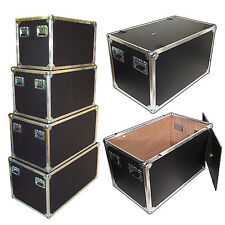 "New Design! Latchless Flat Lid Utility Trunk 3/8"" - 34x20x20 Inside Dimensions"