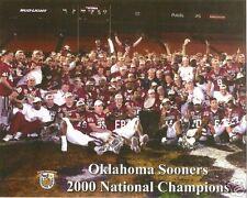 OU OKLAHOMA SOONERS 2000 NATIONAL CHAMPS 8X10 PHOTO