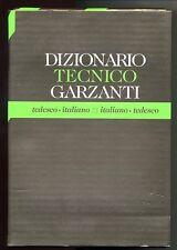 Marolli-Guarnieri #  DIZIONARIO TECNICO GARZANTI # Tedesco-Italiano 1995 - Nuovo