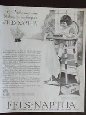 1924 Fels-Naptha Soap Advertisement Little Girl Spilled Milk Ad