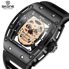 SKONE Pirate Waterproof Skull Quartz Mens Military Silicone Sport Wrist Watch