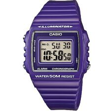 Casio W-215H-6AV Purple Classic Digital Watch W215H-6AV with Box Included