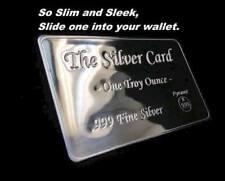 """The Silver Card"" 1 oz .999 Silver Card,  barter prepper money art bar NEW GIFT"