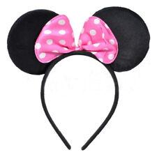 Mouse Orecchie & Fascia Fiocco Rosa-Costume Mickey Minnie Outfit Da Festa