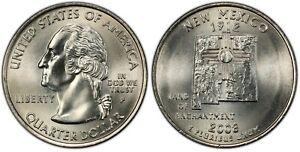 2008-P New Mexico Statehood Quarter 25C Uncirculated Coin Philadelphia mint 093