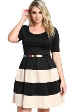 Plus Size Clothing 3X Striped A-Line Skater Boutique Dress SEXY Women's Sz 14 16