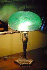 "Large Art Nouveau Jugendstil Austrian Iridescent ""King TUT"" Loetz Glass Lamp"
