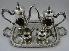 Oneida Silver Plated Tea/Coffee Set 4 Pieces With Tray Read Description - 3.5kgs