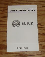 Original 2015 Buick Enclave Exterior Colors Foldout Sales Brochure 15