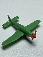 "Vintage Toy WWII Plane Lot, Plastic 3"" Wings, Prop Turns, Stuka, Medical, Prize"