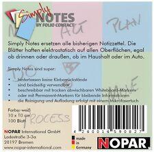 NOTES by Folio Contact, elektrostatische Folie, 10 x 10 cm, weiß, 100 Blatt
