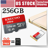 256GB Micro Memory SD Card Universal 4K Fast Class10 Flash TF Card with Adapter