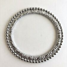 Arthur Court Signed Beaded Textured Bangle Bracelet Aluminium 8in Jewelry