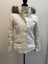 Calvin Klein Women's White Down Puffer Coat S
