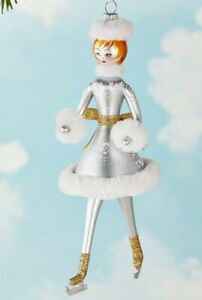 New De Carlini Neiman Marcus Skater Christmas Ornament