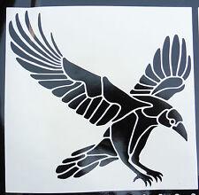 Raven bird Animales Naturaleza Pegatinas/Coche/Furgoneta/Parachoques/Ventana/Calcomanía 5240 Negro