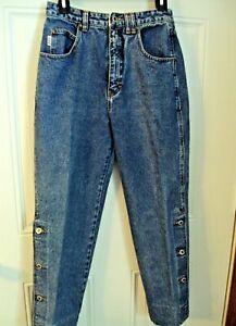 Gasoline Womens Jeans Size 29 Vintage Metal Zipper Bottom Legs have Buttons