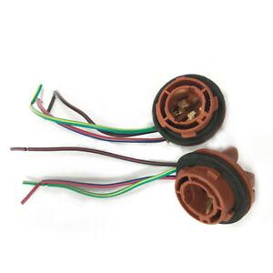 2pcs 12V-24V Plug-in Light Bulb Extension 1157 LED Lamp Holder Bulbs Adapter