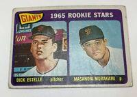 1965 Topps # 282 Masanori Murakami Rookie RC Baseball Card San Francisco Giants