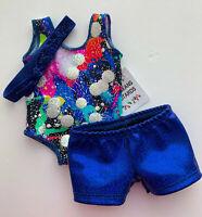 "3 piece Set Gymnastics Dance Leotard Clothing to fit 18"" American Girl Dolls"