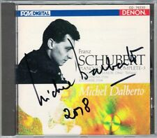 Michel DALBERTO Signed SCHUBERT Piano Sonata D840 Variations Albumblatt DENON CD