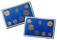 Israel Official New Sheqel Hanukka Mint Coins Set 1988 Uncirculated