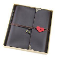 "Scrapbook ""Love"" Vintage Leather Photo Album Book Retro Baby Memory Book Blac..."