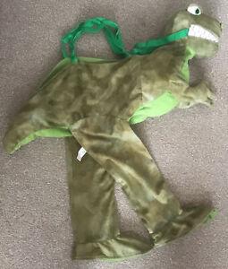 Green T-Rex kids child Dinosaur Ride On Fancy Dress Up Costume age 3-6 years