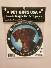 Pet Gifts Usa Magnetic Pedigrees Dog Magnet - German Shorthair My Best Friend