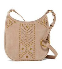 Frye Addie Stud Taupe Nubuck Leather Small Crossbody NWT $398