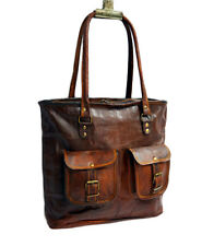 """Genuine Leather Shopping Tote Vintage Handcrafted Women's Shoulder Purse Bag 16"""""""