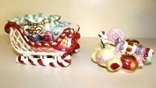 Fitz And Floyd Candy Lane Express Lidded Box/Candy Dish/ Sugar Bowl Euc