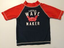 CARTERS Boys Sz 24 Mo Sun Top Swim Shirt