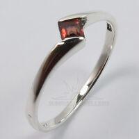FINE EDH Real GARNET Gemstone 925 Sterling Silver Stylish Ring Choose Any Size