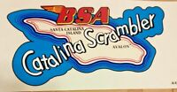 BSA Catalina Scrambler map top tank transfer sticker, 1959-63 DBD34 Gold Star