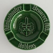 Konigsbacher Brauerei Vintage German Pottery Cigar Ashtray Germany Koblenz
