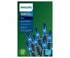 Philips 100 BLUE MINI LIGHTS Indoor Outdoor Christmas  BLUE  FREE SHIPPING