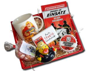 Feuerwehrmann Geschenkkorb Geschenke Feuerwehr Männer Feuerwehrmänner Fire Feuer