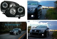 FARI ANTERIORI ANGEL EYES LED BIANCHI GOLF 5 + kit xenon installato anabbagliant