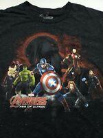Marvel Avengers T-shirt short sleeves black Captain America Iron Man Thor Mens L