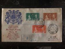 1937 Trinidad & Tobago King George VI Coronation FDC First Day Cover KGVI